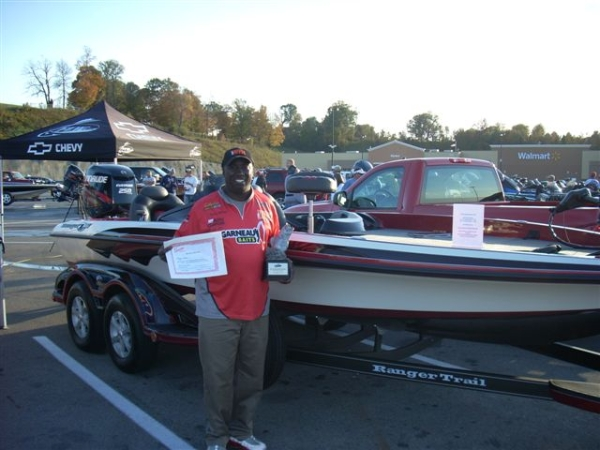 2011 BFL Regional Barren River champion Tommy Robinson with his prize Ranger Boat and Chevy truck