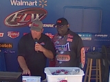 Tommy Robinson weighs in at the BFL Detroit River 2012-07-14