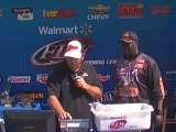 Tommy Robinson weighs in at the BFL Lake St. Clair 2012-07-28