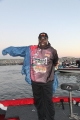 Tommy Robinson bundles up for the FLW Tour Open on Wheeler Lake tournament 2012-09-20